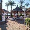 На пляже равномерно высажены пальмы с цветущий кустарник, получаются небольшие приватные зоны для отдыха.